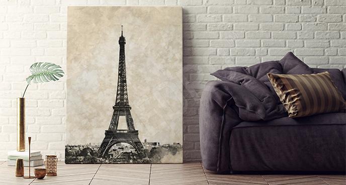Obraz vintage Wieża Eiffla