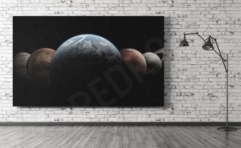 Obraz planet w skali makro