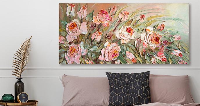 Floralny obraz do salonu