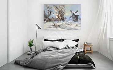 Obraz w sypialni zimowy widok