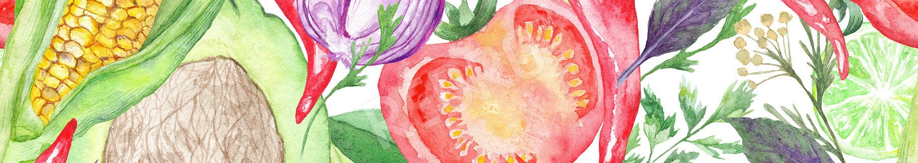 Obraz warzywa w akwareli