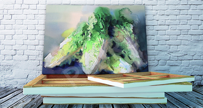 Obraz warzywa zielone