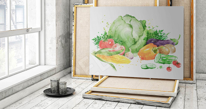 Obraz warzywny wzór