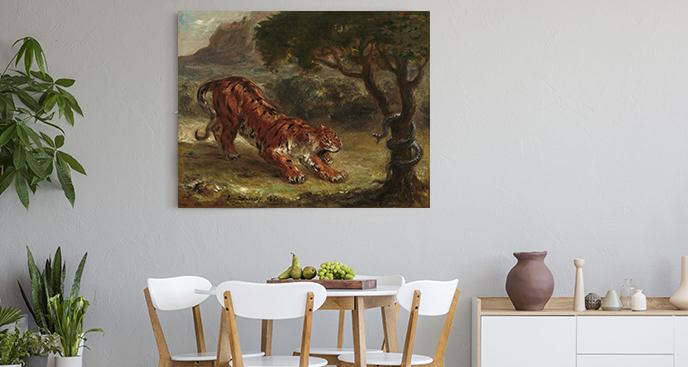 Obraz Wąż i tygrys