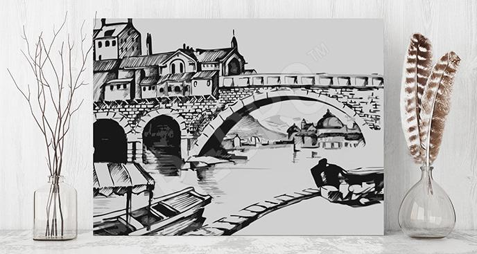 Obraz Wenecja czarno-biały