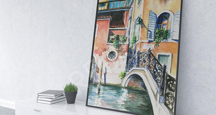 Obraz Wenecja kolorowe domki