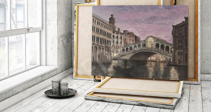 Obraz Wenecja nocą