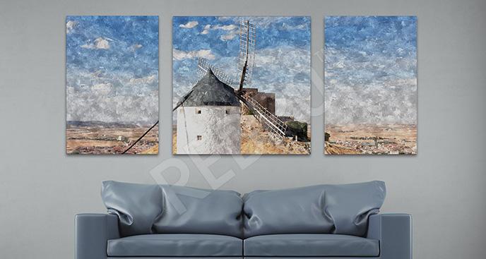 Obraz wiatrak w Hiszpanii