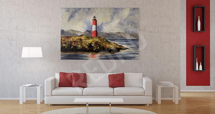 Obraz widok na latarnię morską