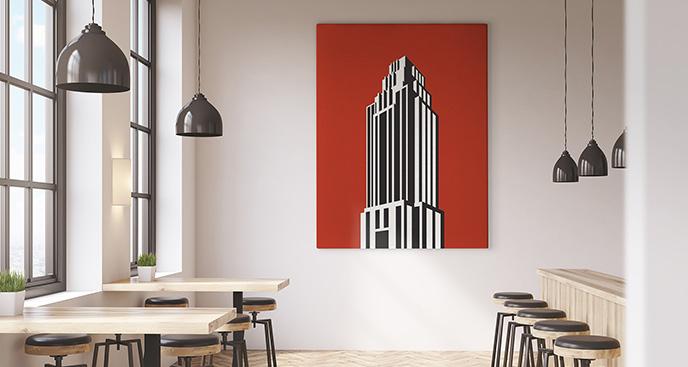 Obraz wieżowiec minimalistyczny