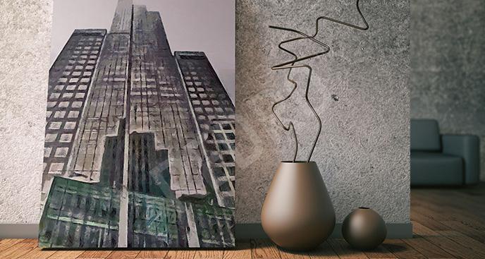Obraz wieżowiec na Manhattanie
