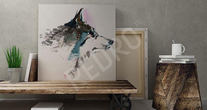 Obraz wilk dla nastolatka