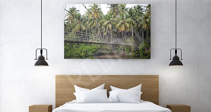 Obraz wiszący most linowy