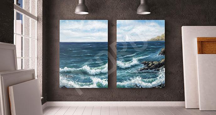 Obraz wybrzeże oceanu