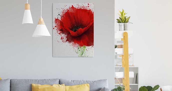 Obraz wyrazisty kwiat