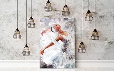 Obraz z baletnicą