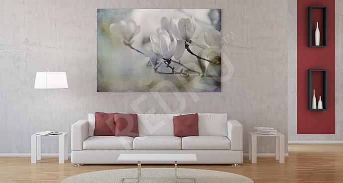 Obraz z białą magnolią