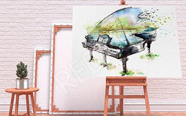 Obraz z fortepianem