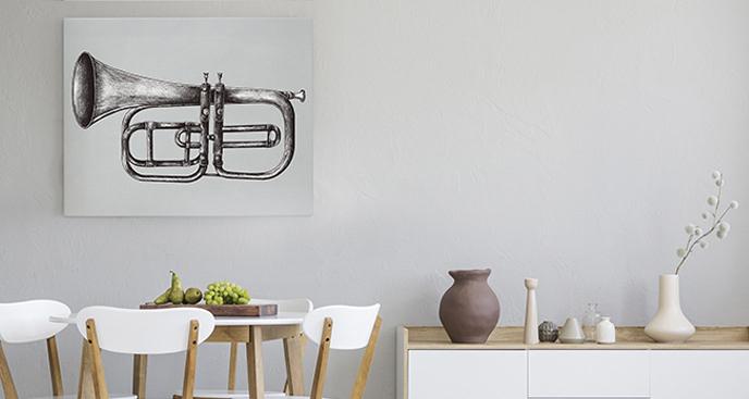 Obraz z instrumentem do jadalni