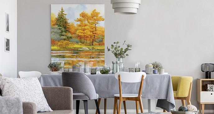 Obraz z jesiennym krajobrazem