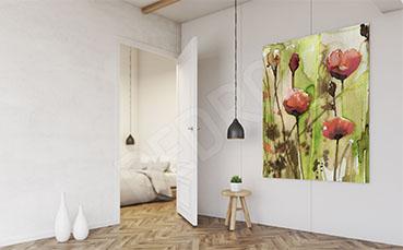 Obraz z kwiatami akwarela