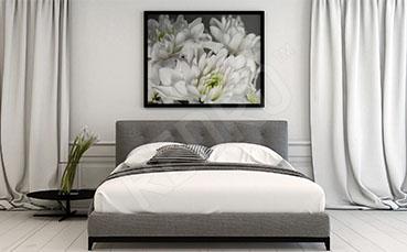 Obraz z kwiatami do sypialni