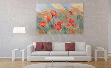 Obraz z kwiatami polnymi