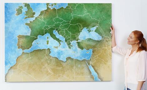 Obraz z mapą Europy