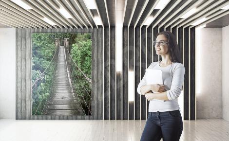 Obraz z mostem linowym do biura