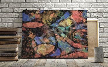 Obraz z abstrakcyjnym motywem malarskim