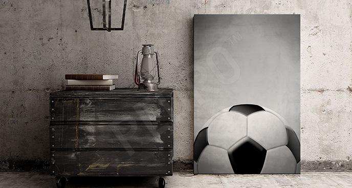 Obraz z piłką minimalistyczny