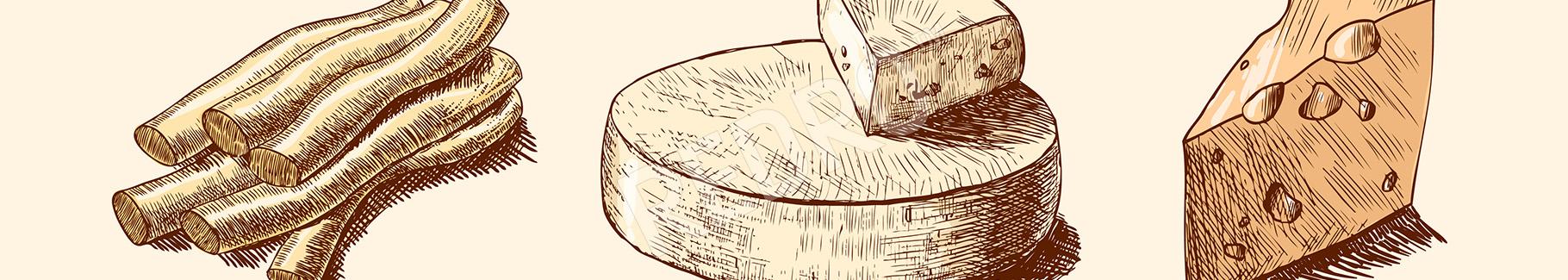 Obraz z serowym motywem