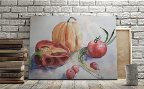 Obraz z warzywami