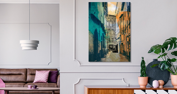 Obraz z widokiem na miasto Lucca