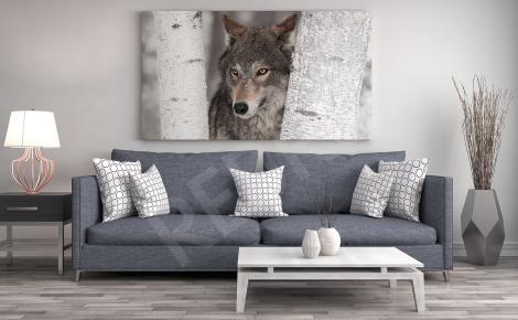 Obraz z wilkiem do salonu