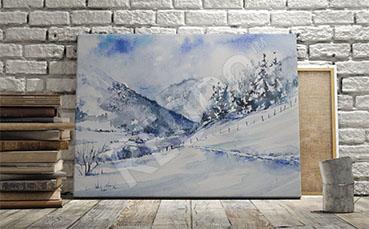 Obraz zima w górach
