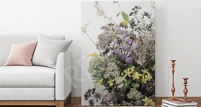 Obraz zioła i kwiaty