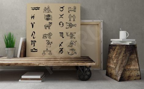 Obraz znaki zodiaku do salonu
