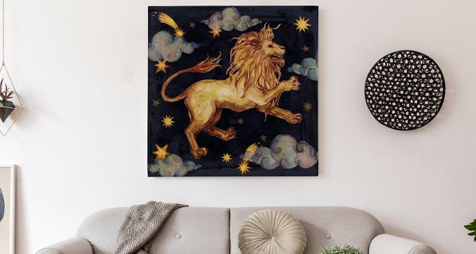 Obraz znaki zodiaku Lew