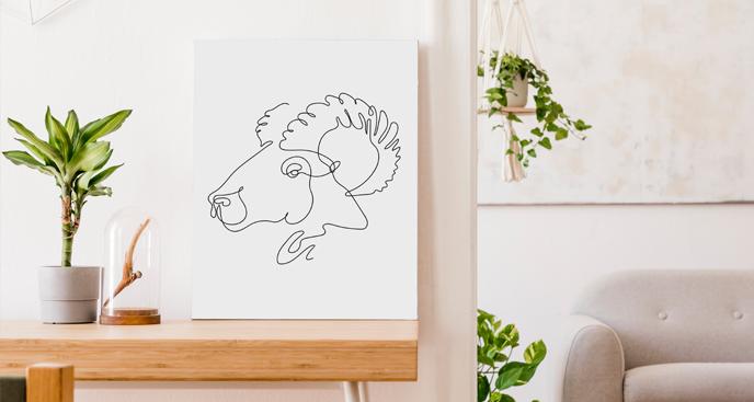 Obraz znaki zodiaku w line art