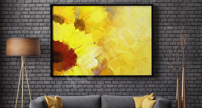 Obraz żółte słoneczniki