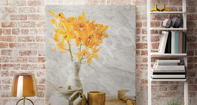 Obraz żółte storczyki