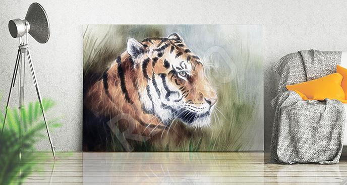 Obraz zwierzę w trawie