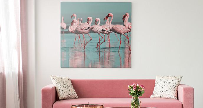 Obraz ptaki na gałęzi