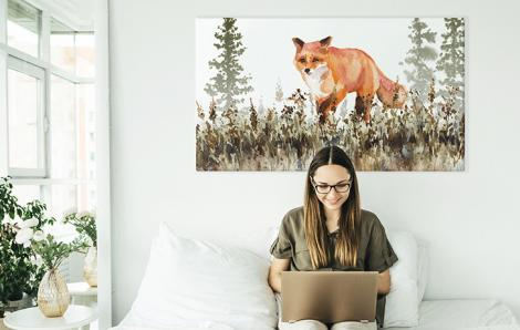 Obraz zwierzęta w akwareli