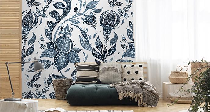 Ornamentalna tapeta do salonu