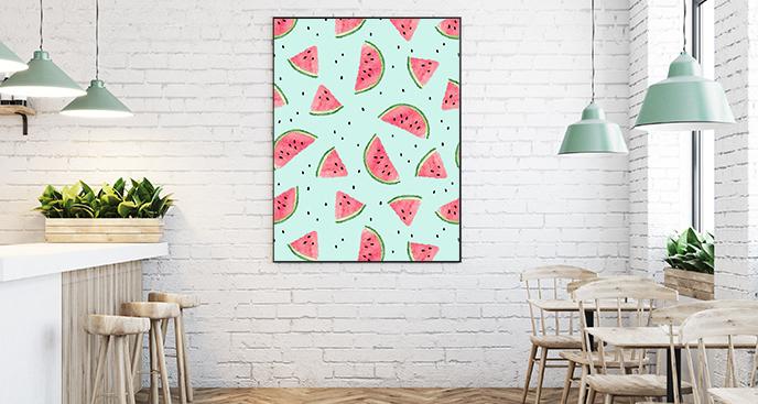Owocowy plakat do restauracji