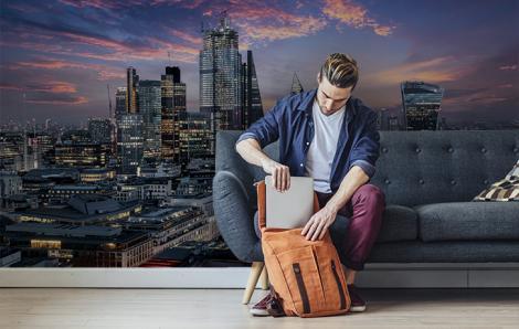 Panoramiczna fototapeta z Londynem