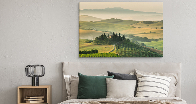 Panoramiczny obraz Toskania