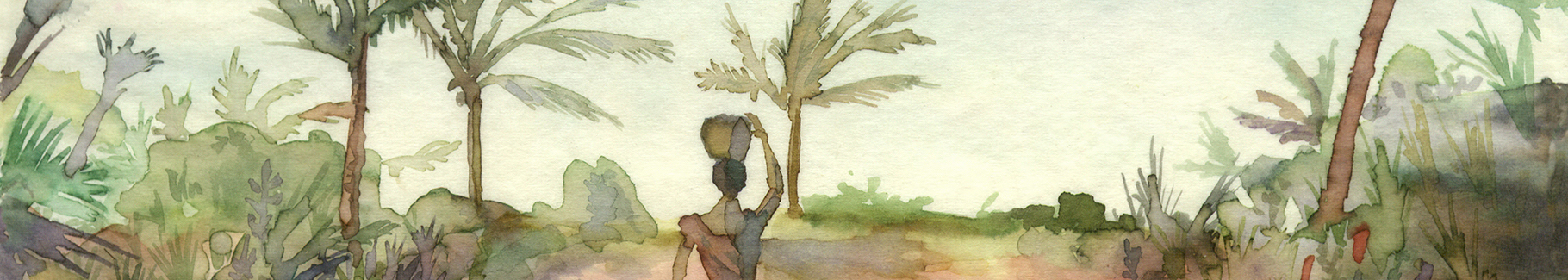 Pastelowy obraz Afryka